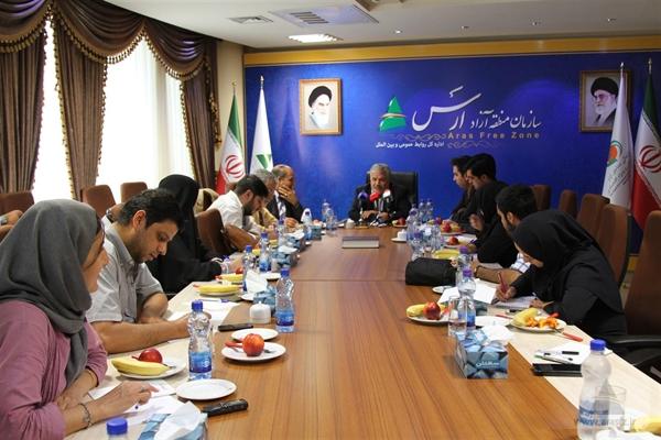 نشست خبری مدیر عامل سازمان منطقه آزاد ارس برگزار شد